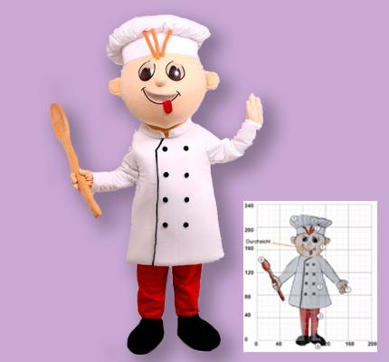Bäcker Figuren Kostüm Maskottchen Herstellung Promotion