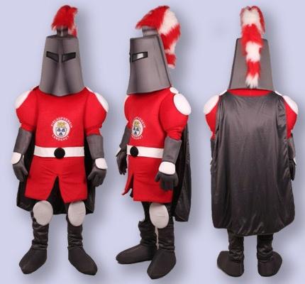 Ritter Maskottchen Kostüm EVL Eishockey