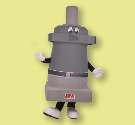 SEW Maskottchen Kostüm Motor Getriebe