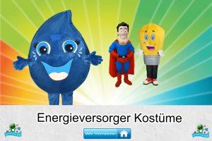 Energieversorger Kostüme Maskottchen Karneval Produktion Firma Bau
