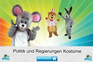 Politik Regierungs Kostüme Maskottchen Karneval Produktion Firma Bau